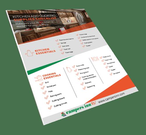 RV Kitchen Checklist  Book