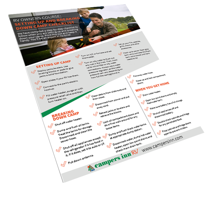 Setting Up and Breaking Down Camp Checklist Book